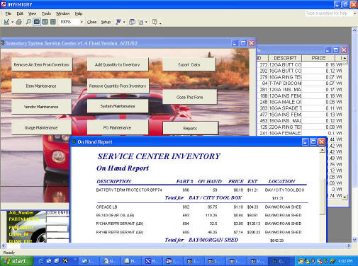 ms access insurance inventory database carda consultants inc